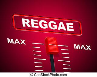 Reggae, musique, représente, son, piste, et, plafond,...