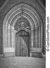 Hassleholm Kyrka Main Door - Hassleholm's church in the...