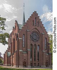 Hassleholm Kyrka Rear - Hassleholms church in the Skane...