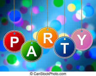 Party Kids Means Fun Cheerful And Youth - Kids Party...