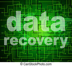 Data Recovery Represents Getting Back And Bytes - Data...