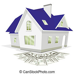 money at home - Saving for a house. Money for the purchase...