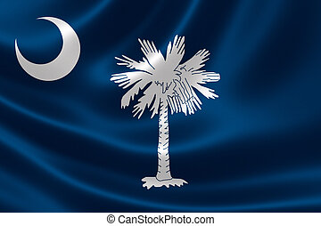 State of South Carolina Flag - 3D rendering of the flag of...