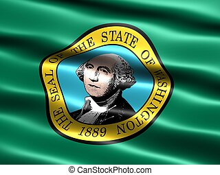 Flag of the state of Washington - Computer generated...