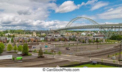 Portland Industrial Freemont - Time lapse of portlands NW...