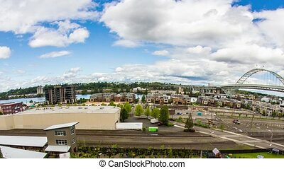 Portland Industrial Freemont - Time lapse of portland's NW...