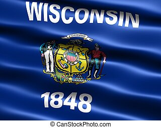 Flag of the state of Wisconsin - Computer generated...