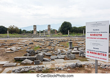 Ancient Greece - Ancient city remains of Filippous in Greece...