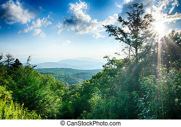 Sunrise over Blue Ridge Mountains Scenic Overlook