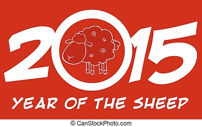 Year Of Sheep 2015 Numbers Card - Year Of Sheep 2015 Numbers...