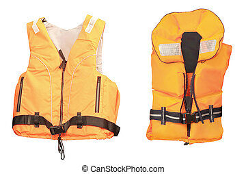 life jacket under the white background
