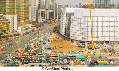 Seoul Lotte World Tower 477 - Time lapse of the new lotte...