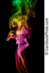 smoke - Smoke isolated on a black background.