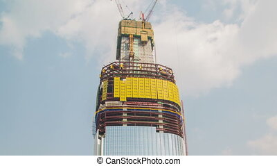 Seoul Lotte World Tower 480 - Time lapse of the new lotte...