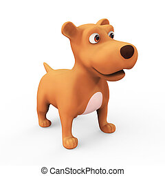 3d Cute cartoon dog - 3d render of a cute cartoon character...