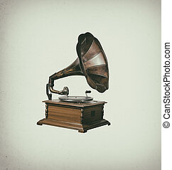 Gramophone player vintage classic