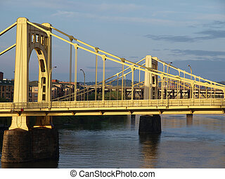 Twin Bridges in Pittsburgh - Twin bridges in late afternoon...