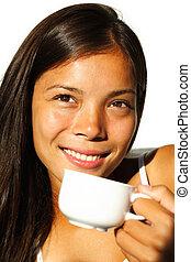Morning coffee woman