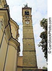 bell tower of the cathedral in Italy