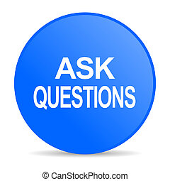 ask questions internet blue icon