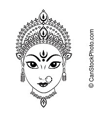 abstract artistic detailed durga background vector...