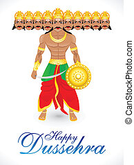 abstract dussehra wallpaper vector illustration