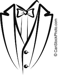 tuxedo - Simple vector illustration of a tuxedo sketch