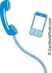 phone icons - Simple vector illustration of a phone icons