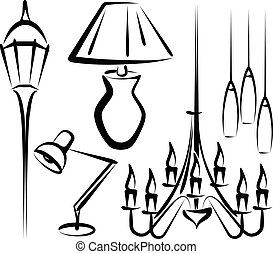 lighting equipment - Simple vector illustration of lighting...