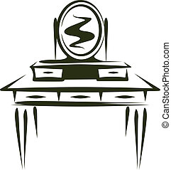 console mirror - Simple vector illustration of a console...