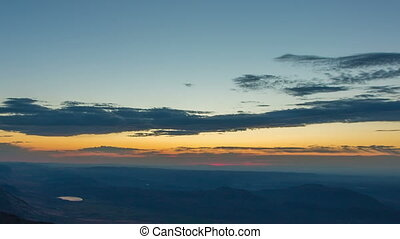Steens Mountain Summit Sunrise 690 - Time lapse of a...