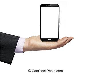Mobile phone wireless communication technology qith blak...