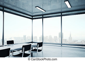 big office with chairs and table