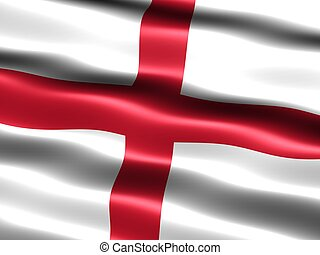Flag of the England - Computer generated illustration of the...