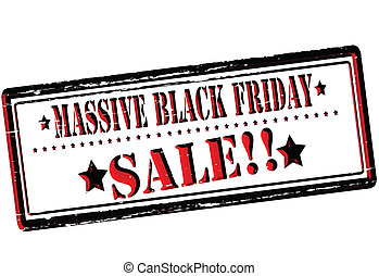 Massive black Friday sale - Rubber stamp with text assive...