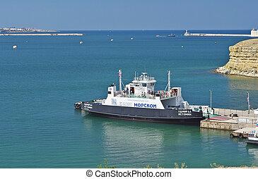 bay of Sevastopol 2014 - The ferry in a bay of Sevastopol...