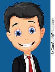business man cartoon posing - vector illustration of...