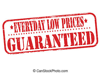 Everyday low prices - Stamp with text everyday low prices...