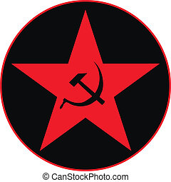 Communist star icon, vector illustration
