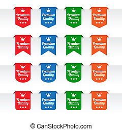 Premium quality paper tag labels in various colors