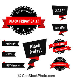 Black Friday Sale vector elements - Black Friday Sale vector...
