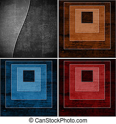 set of geometric grunge backgrounds