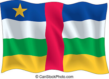 Central African Republic - Flag of Central African Republic...
