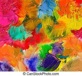 oil paint textures on canvas - multicolor oil paint textures...