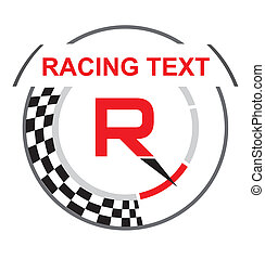 Racing emblem with a place for text
