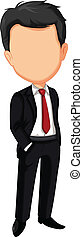 business man without face - vector illustration of business...
