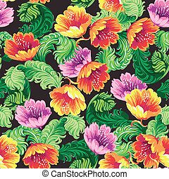 Vintage Floral Background - seamless pattern for design and...