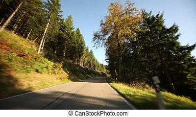 Onboard-Camera in Germany in the black forest - HD Video...