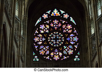 Rosette decal of St. Vitus Cathedral in Prague - Decal...
