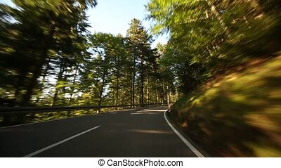 Onboard-Camera in Germany in the black forest - Driving on a...